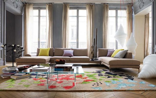 Thảm trải sàn họa tiết hoa cũng được kì vọng sẽ gây ấn tượng mạnh trong các không gian gia đình trong năm nay.