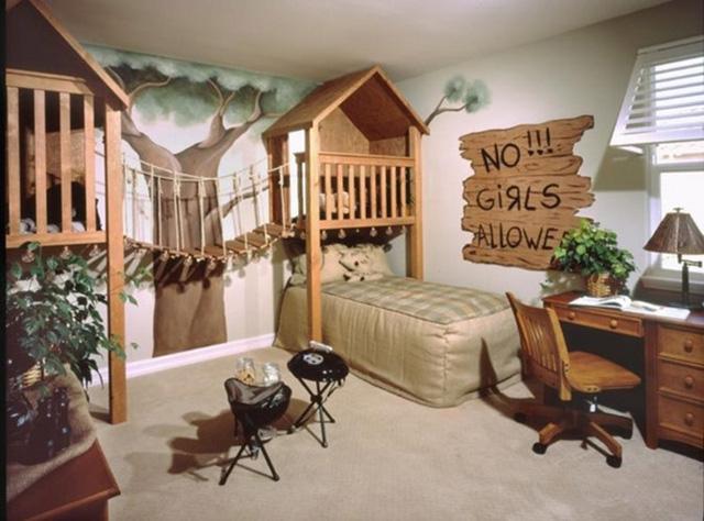 Phòng ngủ phong cách nhà cây.