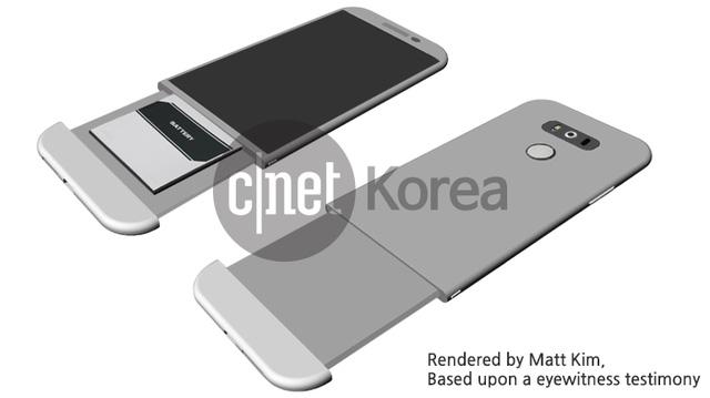 Một cơ cấu tháo rời pin khác của LG G5