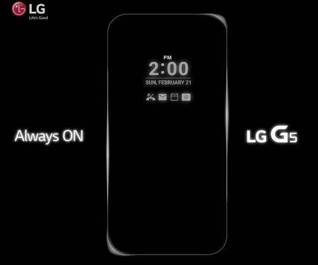 LG G5 sẽ được tích hợp chế độ màn hình luôn bật
