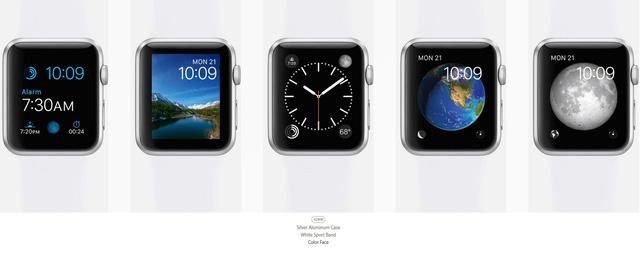 Chọn mặt đồng hồ để hoàn thành việc chọn thiết kế cho Apple Watch của khách hàng