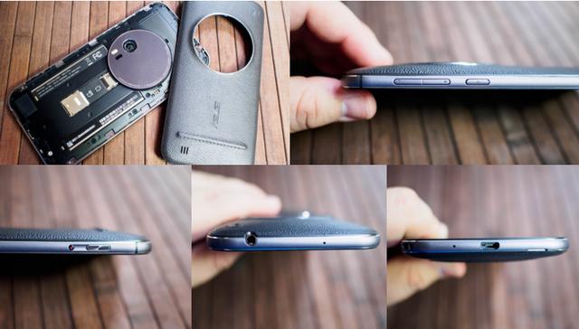 ZenFone Zoom sở hữu thiết kế với viền kim loại liền khối sang trọng, cùng khối pin Li-Polymer 3000mAh không tháo rời (Ảnh: Androidcentral)
