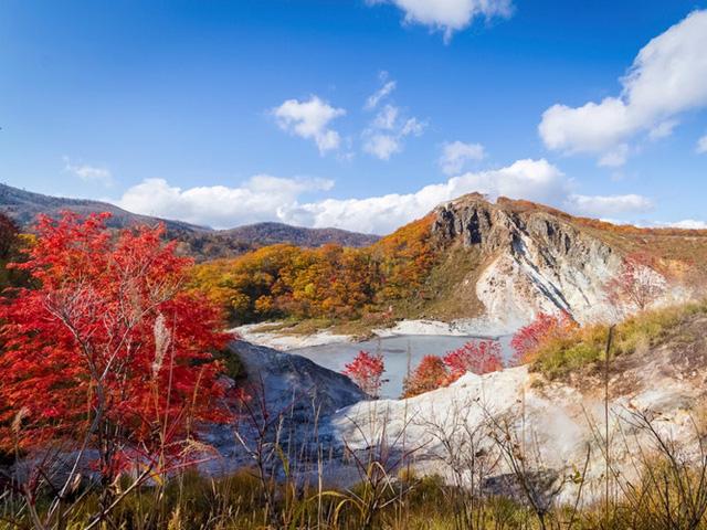 Sắc màu của Jigokudani vô cùng rực rỡ vào mỗi mùa thu