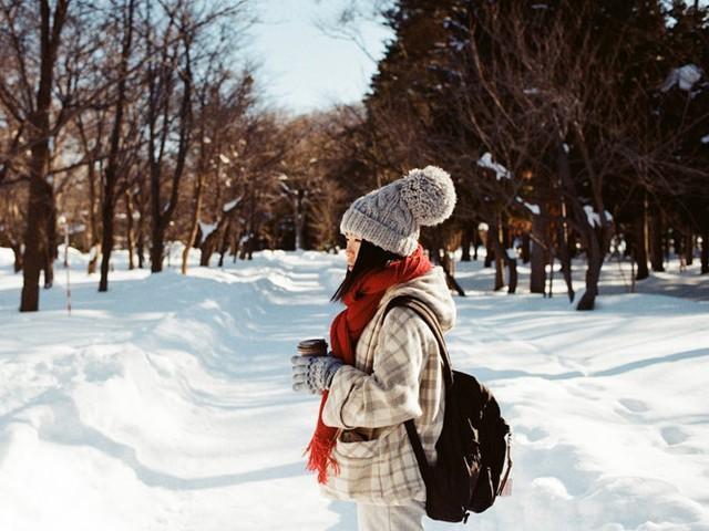 Sapporo có lượng tuyết rơi nhiều.