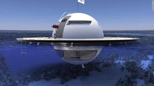 """UFO thậm chí có thể """"tự lực cánh sinh"""" do nó có thể biến nước mặn và mưa thành nước có thể uống được. Ngôi nhà UFO này cũng sử dụng năng lượng mặt trời và các tua bin nước để tạo ra nguồn điện."""