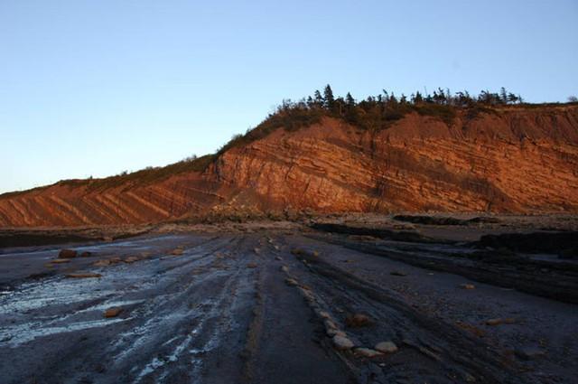 Vách đá Joggins dài gần 15km, nằm dọc bờ biển tỉnh Nova Scotia, phía Đông Canada. Ảnh: UNESCO.