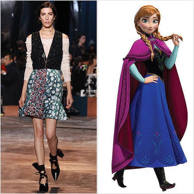 Bộ cánh mới toanh của Dior được đánh giá là gợi nhắc đến hình ảnh công chúa Anna trong bộ phim Frozen.