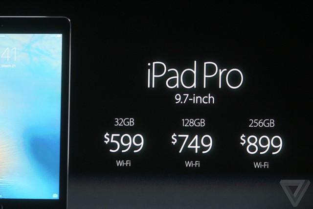 Giá bán của iPad Pro 9,7 inch