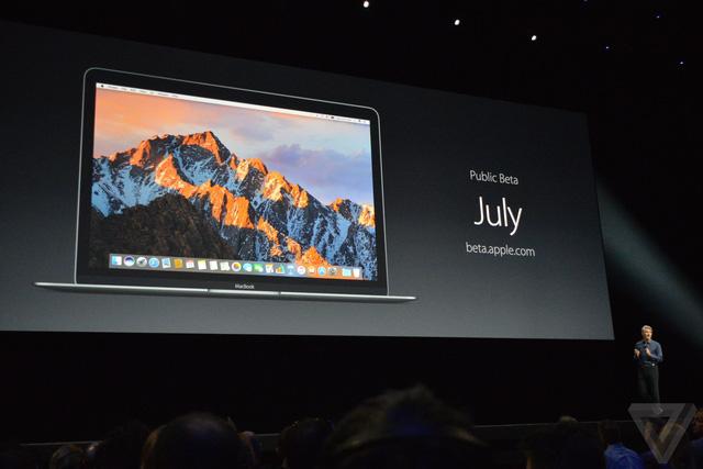 Phiên bản thử nghiệm của macOS sẽ phát hành vào tháng 7