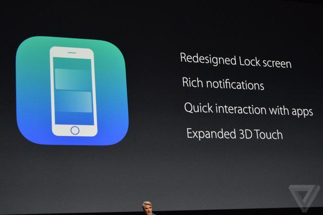 Màn hình khóa iPhone được thiết kế lại