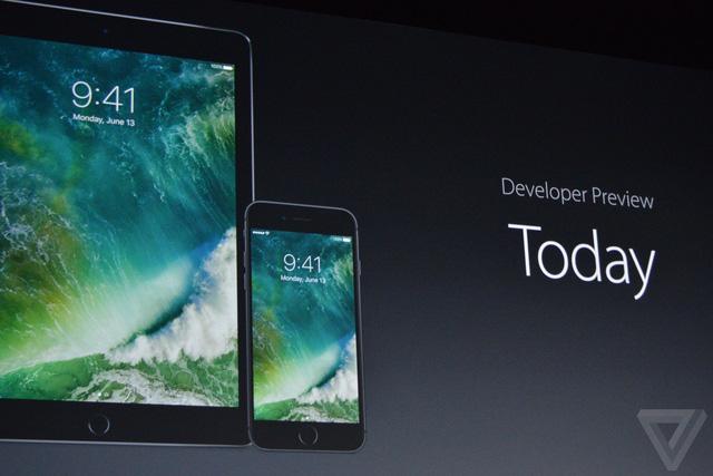 iOS 10 Developer Preview phát hành từ hôm nay