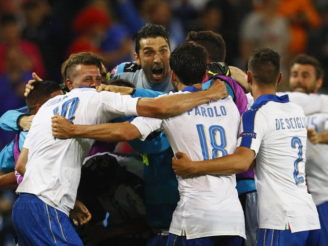 Các cầu thủ Italy đã có trận đấu tuyệt hay trước ứng cử viên vô địch Bỉ