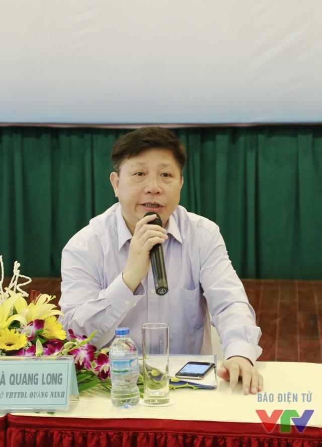 Ông Hà Quang Long - Giám đốc Sở Văn hóa, Thể thao và Du lịch tỉnh Quảng Ninh