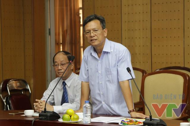 Ông Phạm Văn Quang – Phó bí thư thường trực Đảng ủy Đài Truyền hình Việt Nam- phát biểu tại buổi lễ kí kết (Ảnh: Đức Huỳnh)