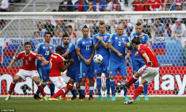 Gareth Bale mở tỷ số bằng pha đá phạt uy lực