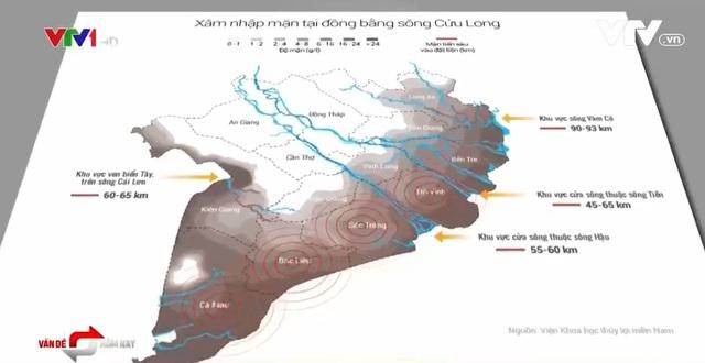 Bản đồ nhiễm mặn ở ĐBSCL
