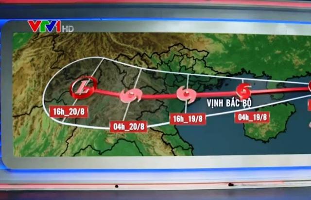 Dự báo đường đi của cơn bão số 3