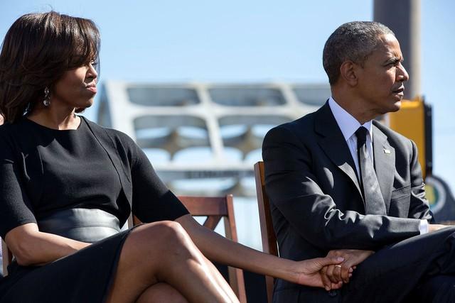 Tháng 3 năm 2015, khoảnh khắc thân mật và ngọt ngào của Tổng thống Obama và vợ.