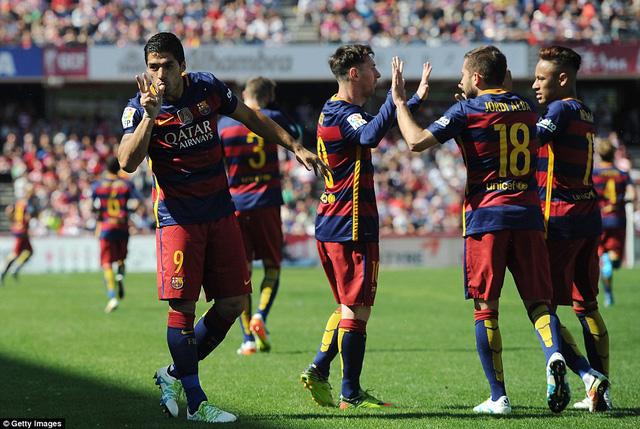 Barcelona mùa này tốt thứ 3 trong lịch sử về thành tích ghi bàn nhiều nhất.