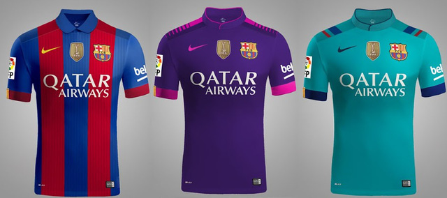 Chiếc áo Barcelona sẽ được tài trợ bởi ba hãng lớn