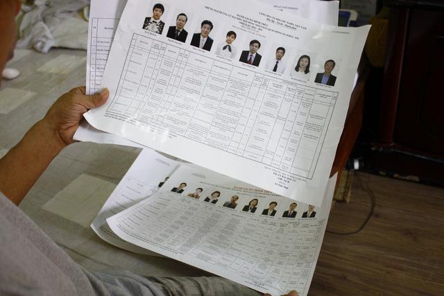 Thông tin của các đại biểu cũng được gửi tới từng nhà cử tri.