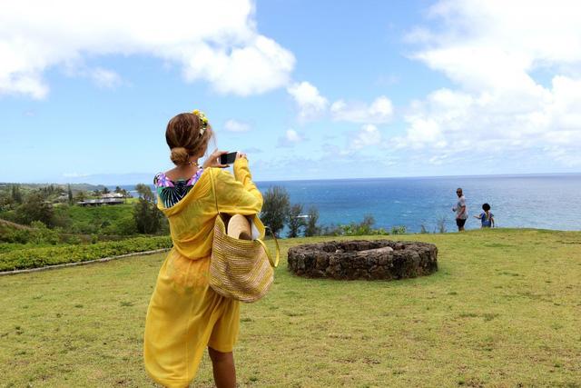 Vẻ đẹp thanh bình của Hawaii đã giúp gia đình nữ ca sĩ có những giây phút đáng nhớ bên nhau.