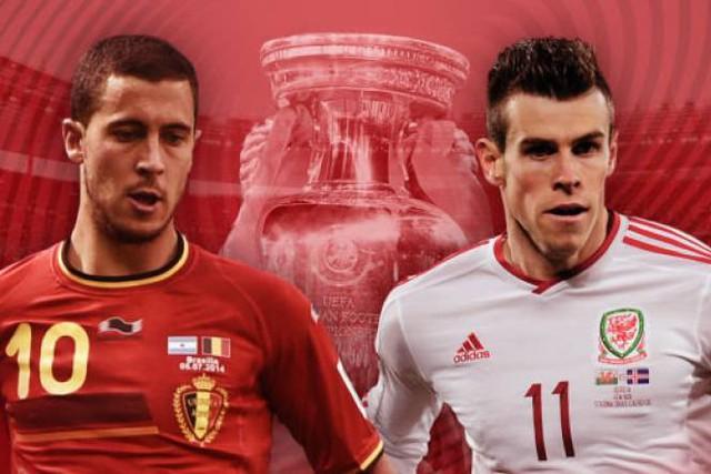 Hazard và Bale sẽ tạo nên cuộc thư hùng thú vị khi Bỉ chạm trán Xứ Wales tại tứ kết EURO 2016.