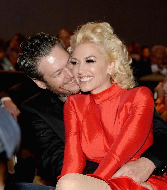 Hình ảnh hạnh phúc của Gwen Stefani và bạn trai Bkale Shelton.