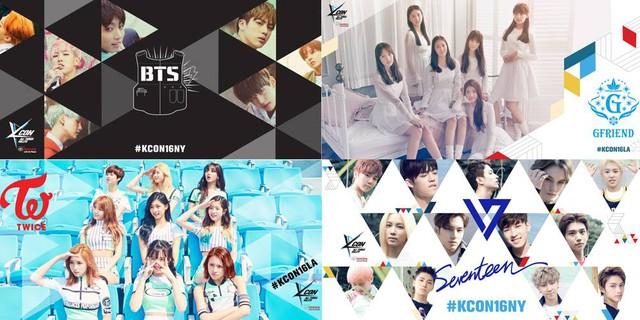 Một số nhóm nhạc tham gia KCON năm nay.