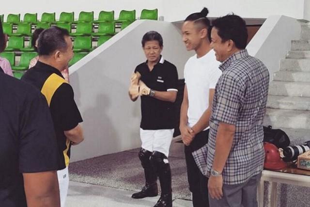 Faiq Jefri Bolkiah gặp gỡ Chủ tịch CLB Leicester City, ông Vichai Srivaddhanaprabha người Thái Lan