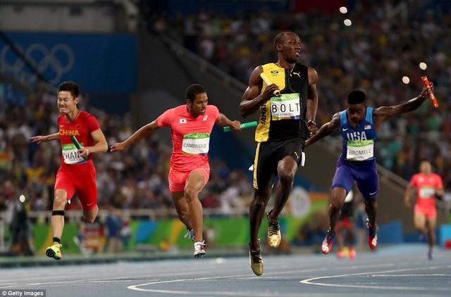 Usain Bolt đã có được tấm HCV thứ 3 tại Olympic Rio 2016
