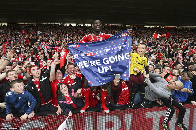 Sau 7 năm, Boro đã trở lại Premier League.