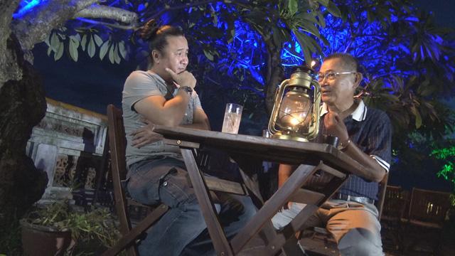 Nhạc sĩ Bảo Chấn đồng hành cùng nhạc sĩ Lê Minh Sơn ở xứ Huế (Ảnh: Linh Nguyễn)
