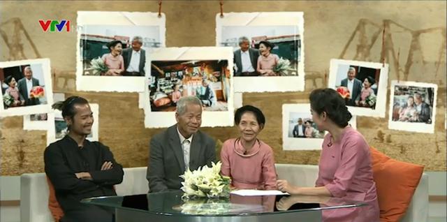 Hai cụ và nhiếp ảnh gia Lê Cao Hải trên trường quay Cuộc sống thường ngày