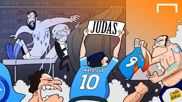 Maradona - biểu tượng bất diệt của Napoli, đã lên tiếng chỉ trích học trò cũ ở ĐTQG Argentina - Gonzalo Higuain là Kẻ phản bội.