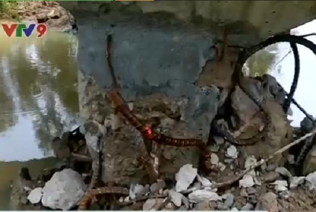 Tình trạng sụt lún, hư hỏng của cầu máng.