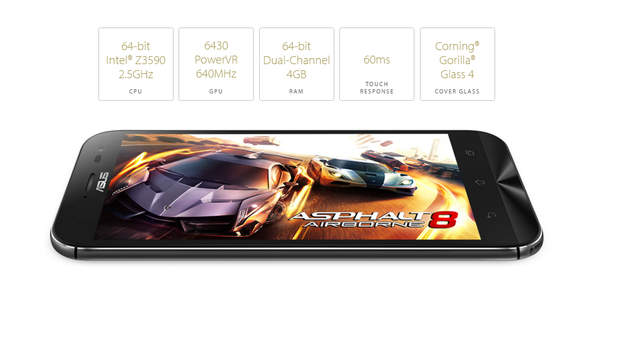Thống số kỹ thuật của ZenFone Zoom