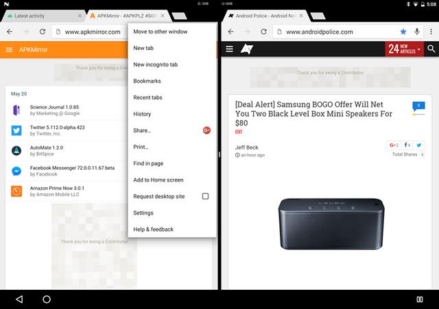 """Mở tab mới và chọn """"Move to other window"""" để chuyển tab đó sang bên màn hình chia bên cạnh"""
