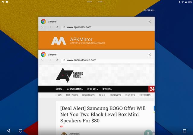 Cửa sổ ứng dụng chạy nền cho thấy có hai trình duyệt Chrome đang được mở