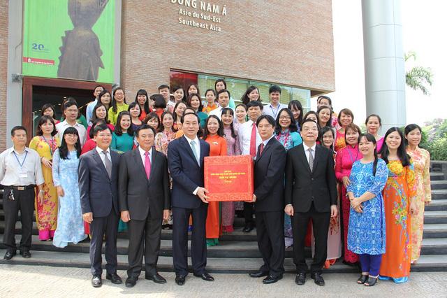 Chuyến thăm và những lời động viên của Chủ tịch nước đã để lại nhiều động lực cho các cán bộ làm việc tại bảo tàng