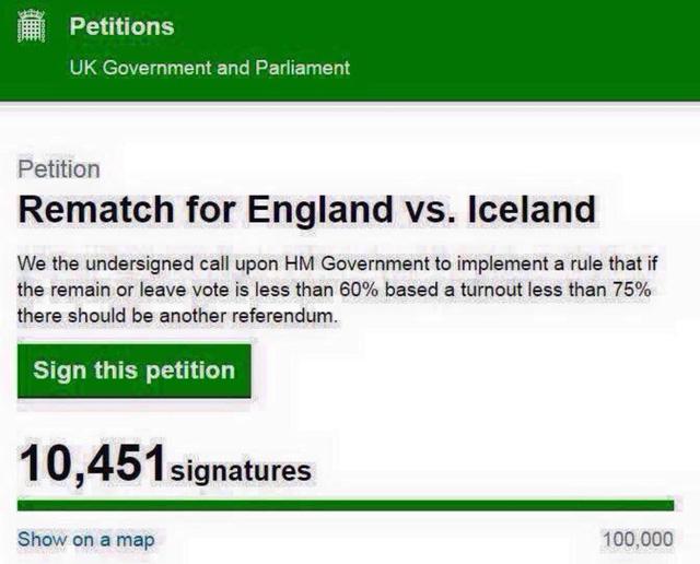 Các CĐV kiến nghị Chính phủ Anh tổ chức lại trận Anh - Iceland