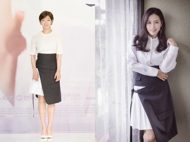 Hai nữ diễn viên Park So Dam và Son Ye Jin cùng diện chiếc váy trắng phá cách.