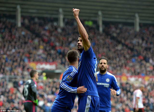 Diego Costa mở tỉ số trận đấu ngay phút 14.