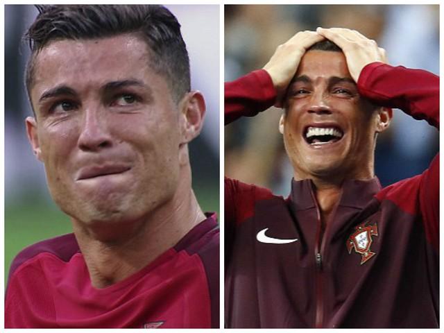 2 thái cực: Sự lo lắng khi dính chấn thương và nước mắt hạnh phúc của Ronaldo trong trận chung kết EURO 2016.