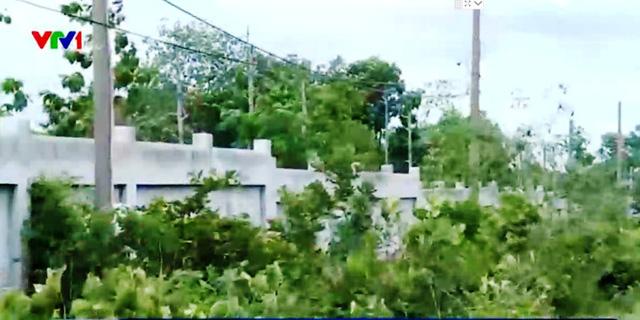 Tường bao giữ đất được công ty Đại Nam xây.