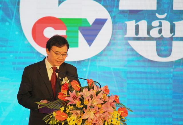 Ông Phạm Việt Tiến - Phó TGĐ Đài THVN phát biểu tại Lễ kỉ niệm 60 năm thành lập trường Cao đẳng Truyền hình.