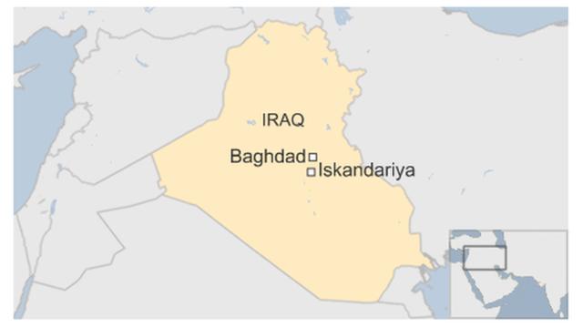 Địa điểm xảy ra vụ tấn công rất gần thủ đô Baghdad. (Ảnh: CNN)