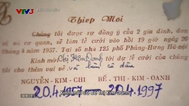 Tấm thiệp mời đặc biệt ông Chi gửi cho bà Oanh với yêu cầu làm cô dâu