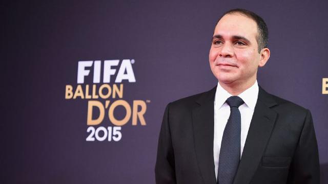 Hoàng tử Ali Bin Al Husseintại Lễ trao giải Quả bóng Vàng FIFA 2015