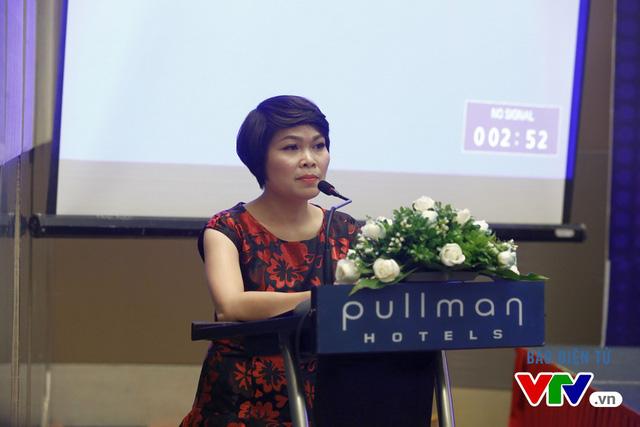 Bà Nguyễn Thanh Thúy - Tổng Giám đốc Công ty TNHH Liên Minh Bản Quyền Số Việt Nam phát biểu tại buổi lễ